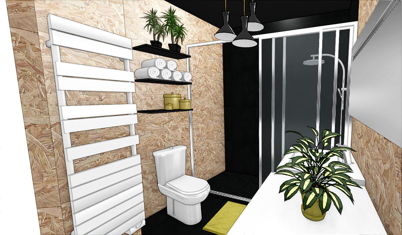 salle de bains brute et contrast e cityzen d. Black Bedroom Furniture Sets. Home Design Ideas